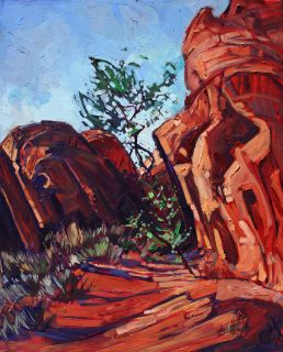 Valley of Fire Nevada Red Rock Desert Landscape Original Oil Painting