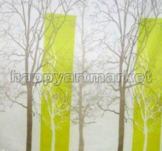Landscape Tree Branch Pattern Bathroom Beautiful Fabric Shower Curtain