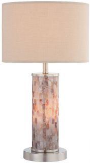 Lite Source Schale I Shell Mosaic Table Lamp w Night Li