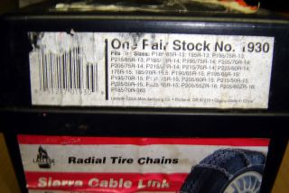 Laclede Sierra Cable Link Radial Tire Chains 1930