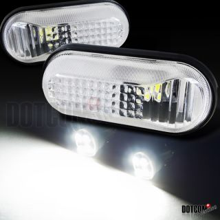 Civic Clear Dome Side Marker Lamps SMD T10 LED Light Bulbs 12V