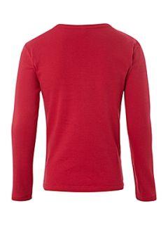 Benetton Long sleeved glitter logo t shirt Cream