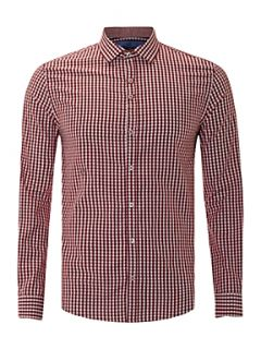 Peter Werth Long sleeve mini check shirt Navy