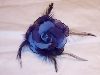 Feather Flower Rose Lapel Pin Brooch Corsage Set New