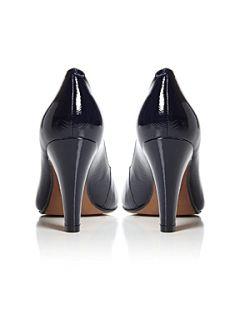 Bertie Adora V Throat Plain Court Shoes Navy