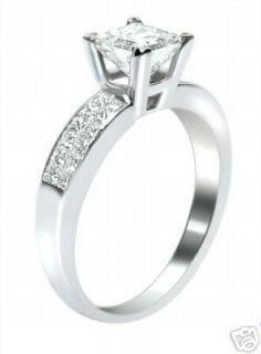 26 Ct E SI Princess Cut Diamond Engagement Ring 14k