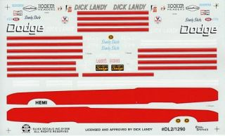 Dick Landys 69 Dart SUPERBEE Charger Decals 1290