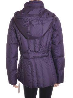 Larry Levine Down Zipper Front Eggplant Women Jacket Coat Sz XS