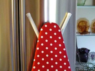 Handmade Custom Ironing Board Cover Red White Large Polka Dots Gift