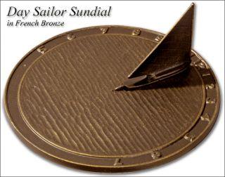 Day Sailor Sundial Garden House Gift 3 Color Choices