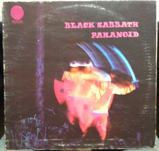 1970 1st Press German Vertigo Swirl BLACK SABBATH paranoid LP VG+ 6360