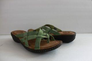 New UGG Australia Womens Lanni Green Leather Thong Sandal Shoe Size 7