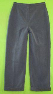 Larry Levine Suits Sz 10P Petite Womens Gray Dress Pants Slacks