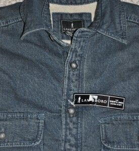 Lanesboro Mens Sherpa Lined Blue Denim Shirt New Size Small s Warm