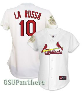Tony LaRussa 2011 St Louis Cardinals World Series Home Womens Jersey