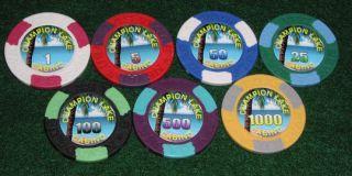 1000 Custom Laser Glossy Poker Chip Labels
