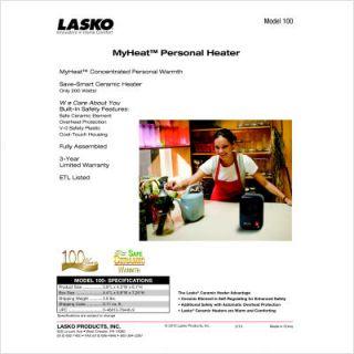 Lasko Products Inc Myheat Personal Ceramic Heater 100