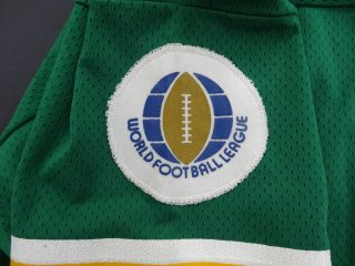 Chuck Latourette WFL Houston Texans Game Used Jersey – 1974 Green