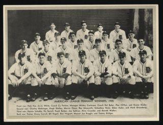 """1936 R311 """"Leather Finish"""" Premium Detroit Tigers Team"""