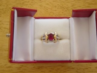 Laura Ramsey Rubilite Diamond 14k Yellow Gold Ring Pretty Under