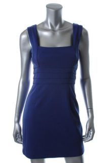 Laundry by Design New Blue Seamed Square Neck Sleeveless Casual Dress