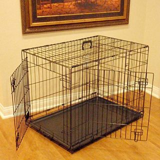 Double Door Folding Dog Crate Extra Large from Brookstone