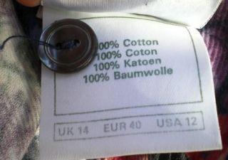 Vtg Laura Ashley Dress Floral Print Corduroy Cotton Red Purple USA 12