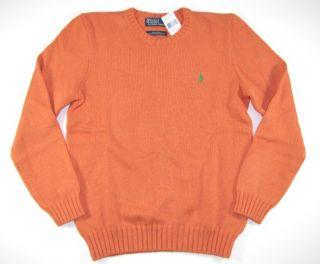 NWT Polo RALPH LAUREN Mens Sweater M Medium Jumper Pullover Orange New