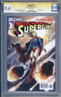 Supergirl 1 SS CGC 9 4 Laura VANDERVOORT Signature Series 2011 New 52