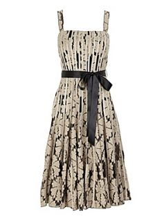 Jacques Vert Black lace stripe prom dress Brown