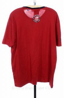 Polo Ralph Lauren XL Olympics 2012 Tee London USA Tshirt Red SS Shirt