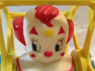 Vtg Larry Harmon LHPC Bozo The Clown in Wheel Floor Toy
