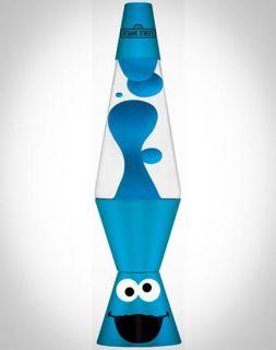 Cookie Monster Lava Brand Motion Lamp Clear Liquid w Blue Lava