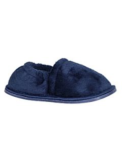 Mini ZZZ Boy`s navy velour slipper Navy