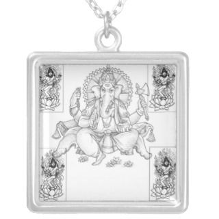 Ganesh and Shiva Custom Necklace