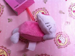 Sanrio Hello Kitty Lay on Floor Mobile Cell Phone Strap Mascot Screen