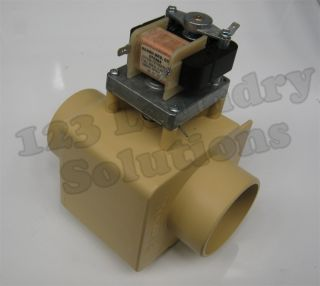 New Part. Milnor Front Load Washer Drain Valve 115V 3 w/o Overflow