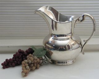 Antique Vtg Lawrence B Smith Co Silver Plate Large Footed 2 Qt Water