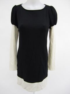 Laundry by Design Black Ivory Long Sleeve Dress Sz 2