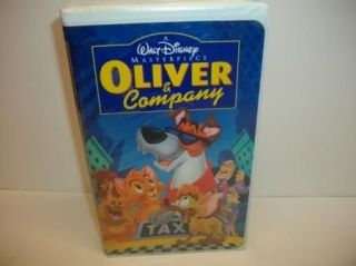 Walt Disney Oliver Company VHS Video Kids Dog Cartoon Movie Tape