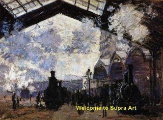 Saint Lazare Station Claude Monet Repro Oil Painting