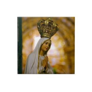 Our Lady of Fatima Ceramic Tile