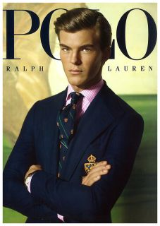 Polo Ralph Lauren Navy Blazer Sport Coat Jacket Gold Crest Buttons