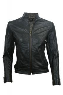Vintage Womens Lambskin Motorcycle Leather Biker Jacket