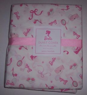 Pottery Barn Kids Barbie Duvet Cover Pbk Pink Girls New