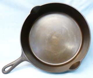 Beautiful Old Griswold Erie PA 10 Deep Cast Iron Skillet 779
