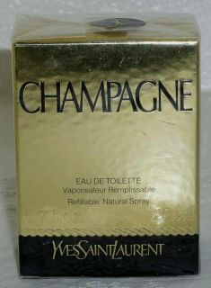Discontinued Yves St Laurent YSL Champagne Parfum Refillable Spray 20