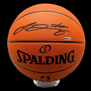 Lebron James Autographed Spalding Basketball Heat UDA