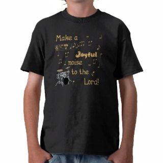 Joyful Noise Drum (orange) T shirt