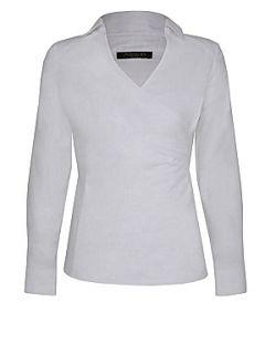 Alexon White tailored wrap blouse White